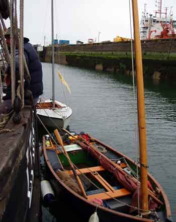 Alongside Keewadin in the sea lock at Milford