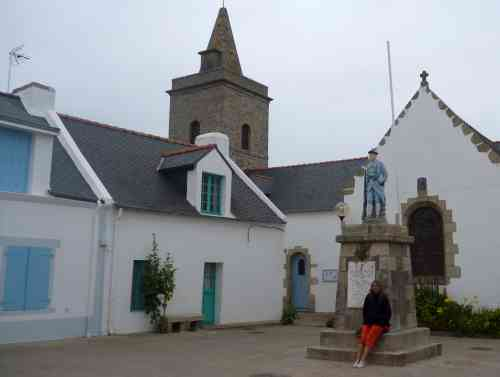 Main square in the small village on Ile Houat