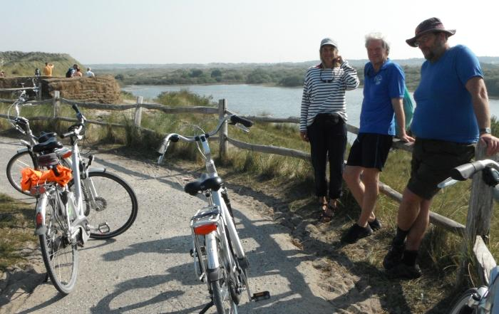with hired bicyles on terschelling