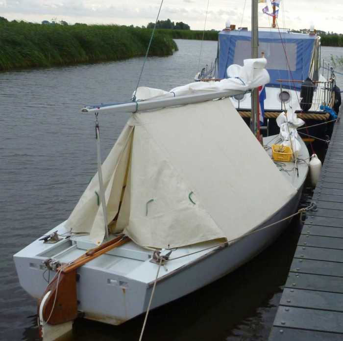grey boat in friesland